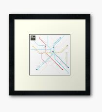 Tianjin Metro Map Framed Print