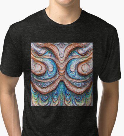 Frozen Monster mind #DeepDream #Art Tri-blend T-Shirt