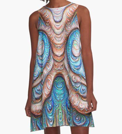 Frozen Monster mind #DeepDream #Art A-Line Dress