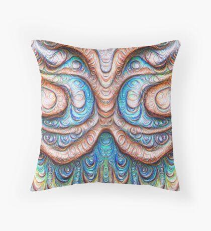 Frozen Monster mind #DeepDream #Art Throw Pillow