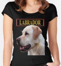 Golden Labrador Retriever Women's Fitted Scoop T-Shirt