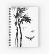 Japanese bamboo Spiral Notebook