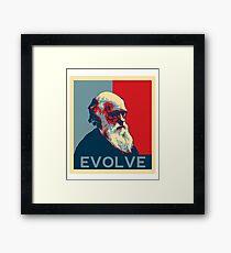 Charles Darwin Evolve Evolution Framed Print