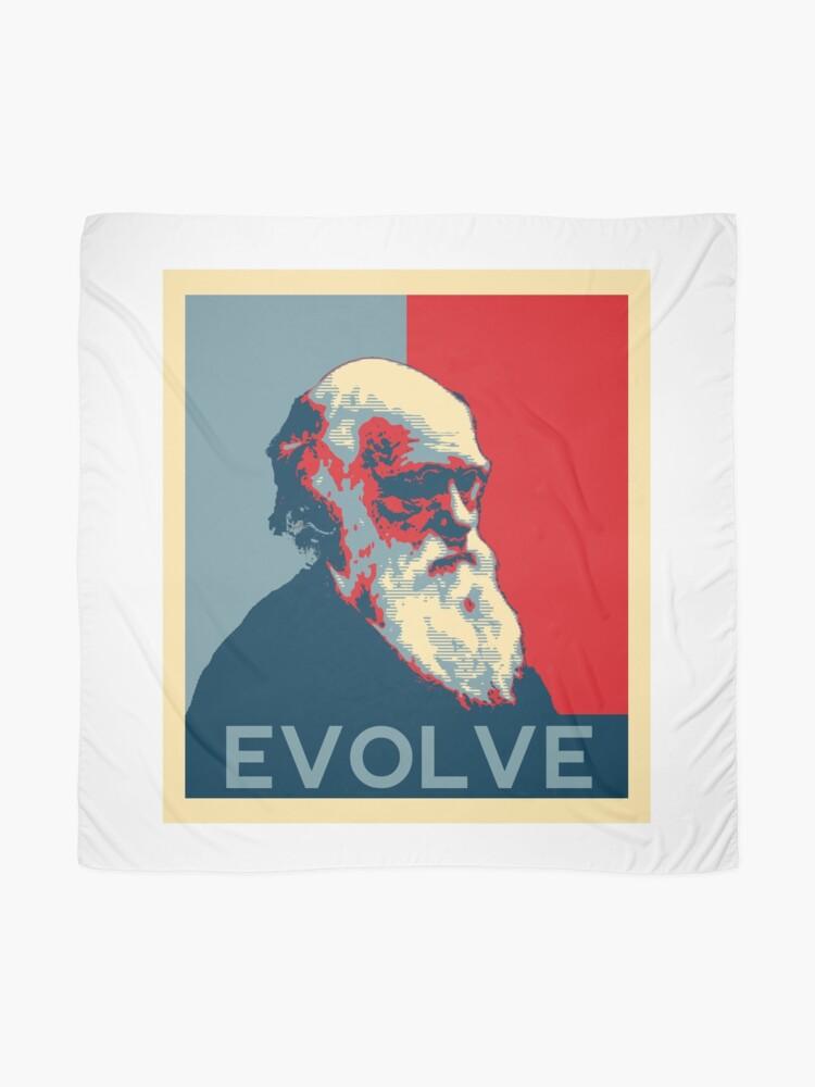 Alternate view of Charles Darwin Evolve Evolution Scarf