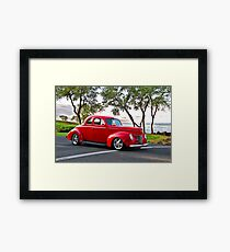 1940 Ford Coupe 'Seaside Parkway' I Framed Print