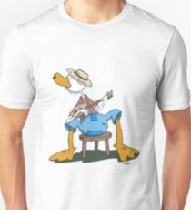 The Hillbilly Duck plays a cool Guitar T-Shirt