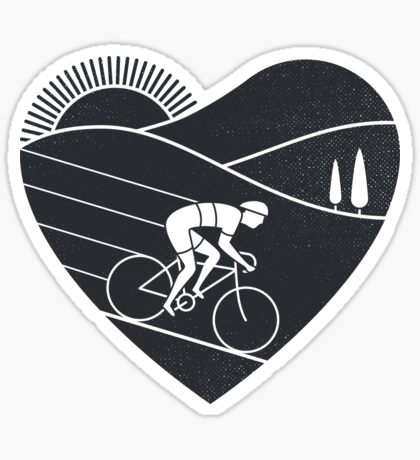 Love Cycling  Sticker
