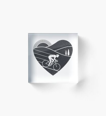 Love Cycling  Acrylic Block