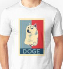 DOGE - doge shepard fairey poster with dog red / blue T-Shirt
