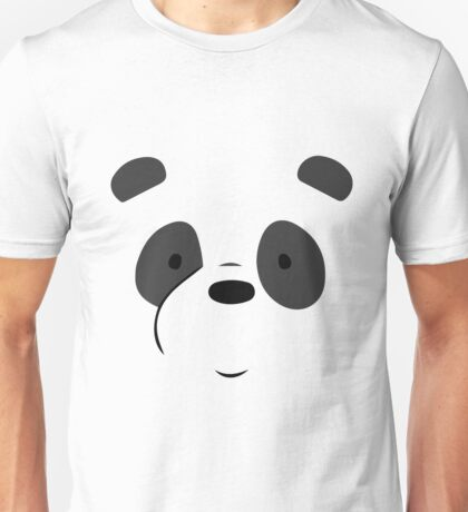 Panda Bear Face Unisex T-Shirt