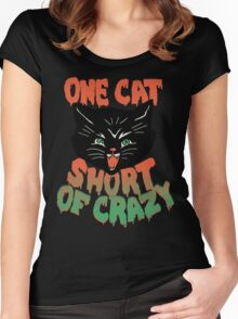 Crazy Cat Women's Fitted Scoop T-Shirt