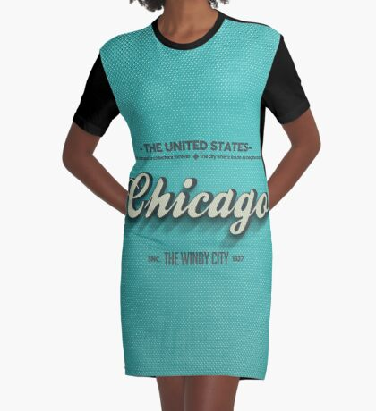 Vintage Chicago Graphic T-Shirt Dress