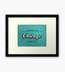 Vintage Chicago Framed Print