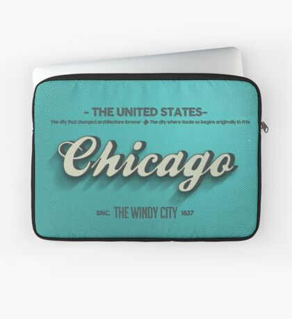 Vintage Chicago Laptop Sleeve