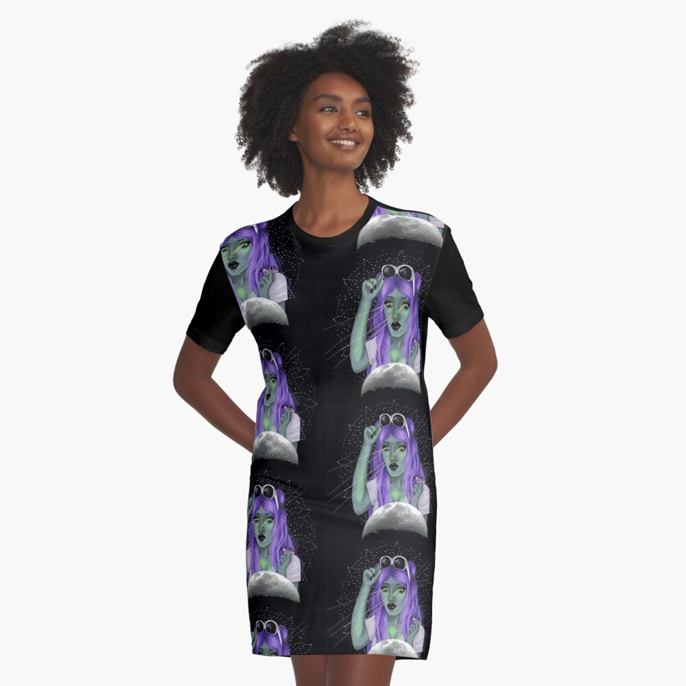 "alien babe"" graphic t-shirt dressjaimeeprice 