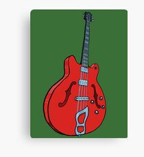 Electro-acoustic bass guitar Canvas Print