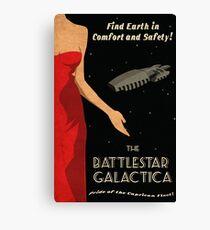 Vintage Battlestar Galactica Travel Poster Canvas Print