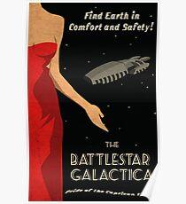 Vintage Battlestar Galactica Travel Poster Poster