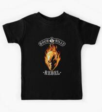 Rockabilly Rebel Flaming Skull Kids Tee