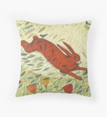 The Hare & the Crows Throw Pillow