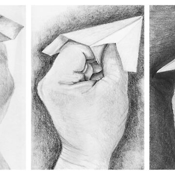 Paper airplane triptych by southpawmiller