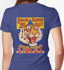 TIGER, Growl, Circus Poster, Ringling Bros, Circus, Animal, Vintage, Poster, Womens Fitted T-Shirt