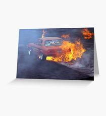 Burning Rubber Greeting Card