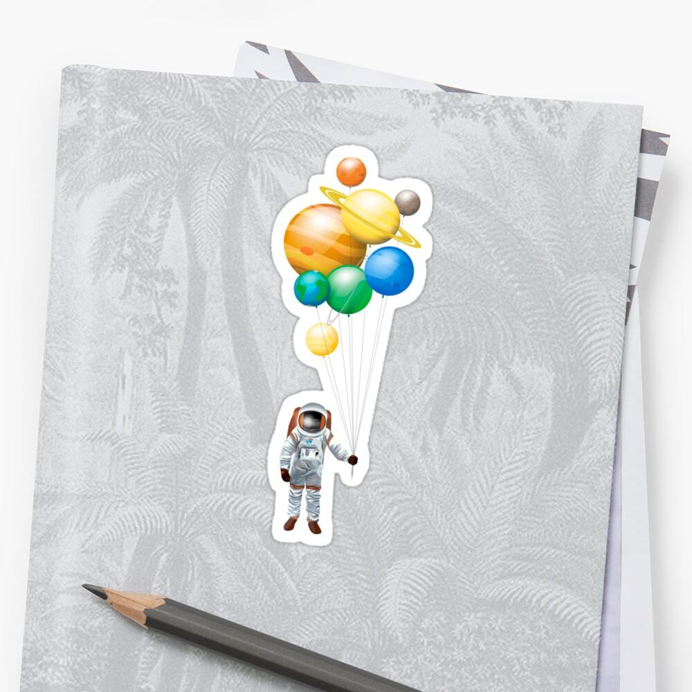 Planet Balloons - Design 2 Sticker