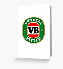 VICTORIA BITTER NEW DESIGN Greeting Card