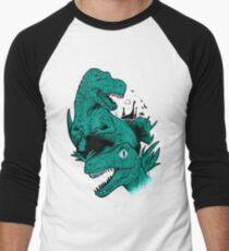 Dinosaur Blue Men's Baseball ¾ T-Shirt