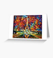 paris of my dreams - Leonid Afremov Greeting Card