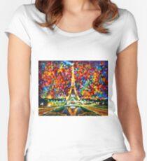 paris of my dreams - Leonid Afremov Women's Fitted Scoop T-Shirt