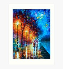 Love by The Lake - Leonid Afremov Art Print