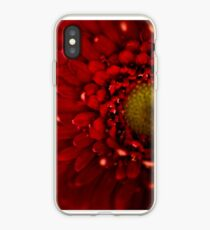 Red Macro Daisy Flower iPhone Case