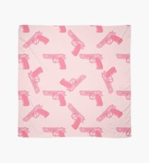 Pink gun for dangerous girls. Scarf