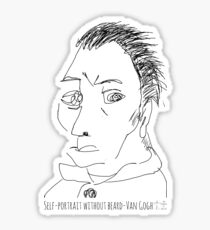 Self-portrait without beard-Van Gogh Sticker