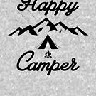 HAPPY CAMPER TENT CAMPING MOUNTAINS HIKING CLIMBING EXPLORE by MyHandmadeSigns