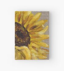 Sun Flower Oil Painting by Angela Brown Art Hardcover Journal