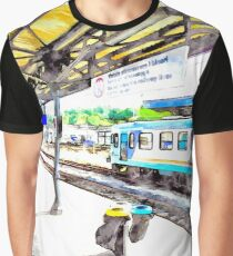 Station from train window Graphic T-Shirt