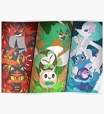New Pokémon starters Poster