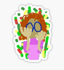 Nerd Girl Sticker