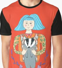 Girl with a badger Graphic T-Shirt