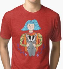 Girl with a badger Tri-blend T-Shirt
