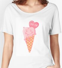 Love ice cream. Women's Relaxed Fit T-Shirt