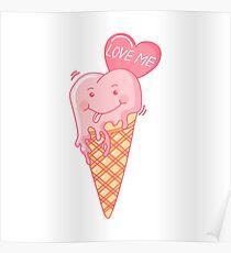 Love ice cream. Poster