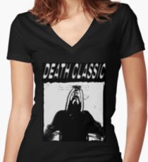 Death Classic Women's Fitted V-Neck T-Shirt
