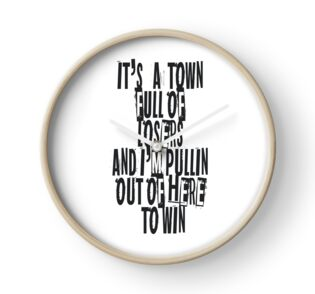 Quot Town For The Losers Quot Clocks By Talesoftheeast Redbubble