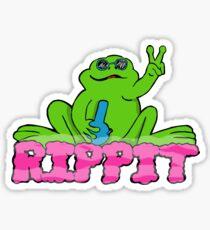 Pegatina Rippit The Stoner Peace Frog