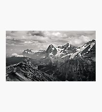 Atop the Swiss Alps -- Gimmelwald, Switzerland Photographic Print