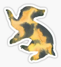 House Badger Watercolor Sticker